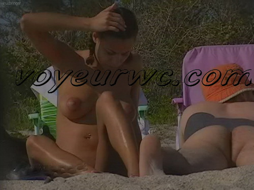 U.S. Nude Beaches 19 (Beach spy cam is working and spying so many nude bodies of people resting on the golden sand)