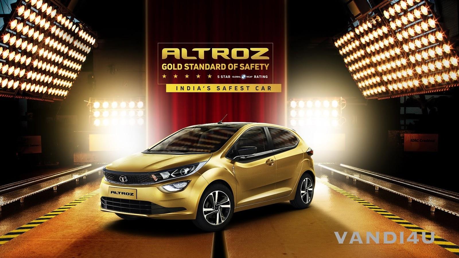 Tata Altroz scores 5-star safety rating from Global NCAP | VANDI4U
