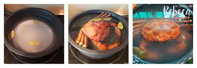 Cómo cocer un cangrejo real