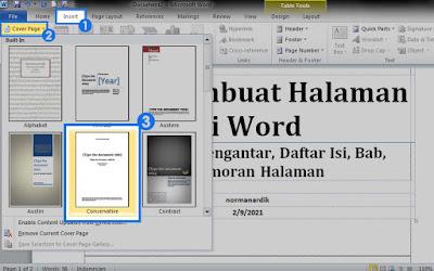 cara membuat halaman di word