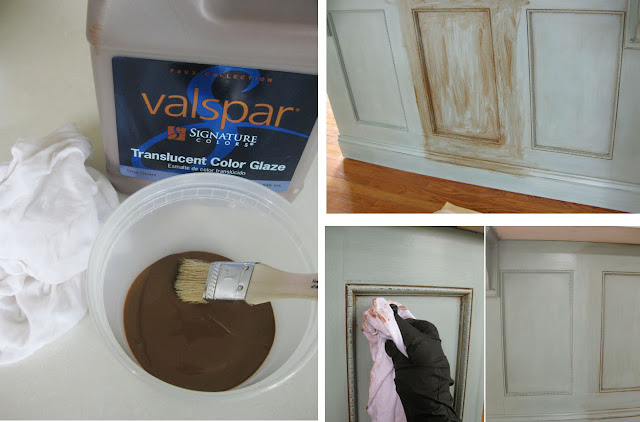 how to apply glaze over a painted surface