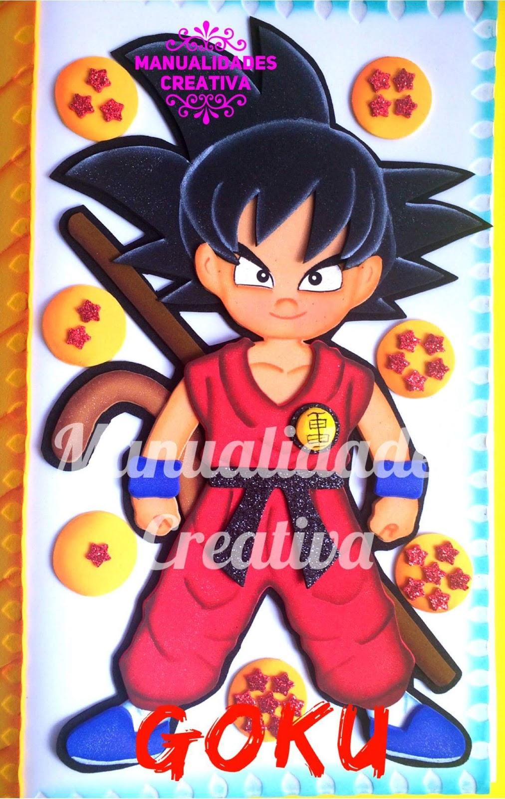 Goku De Eva Com Molde Para Capa De Caderno Como Fazer