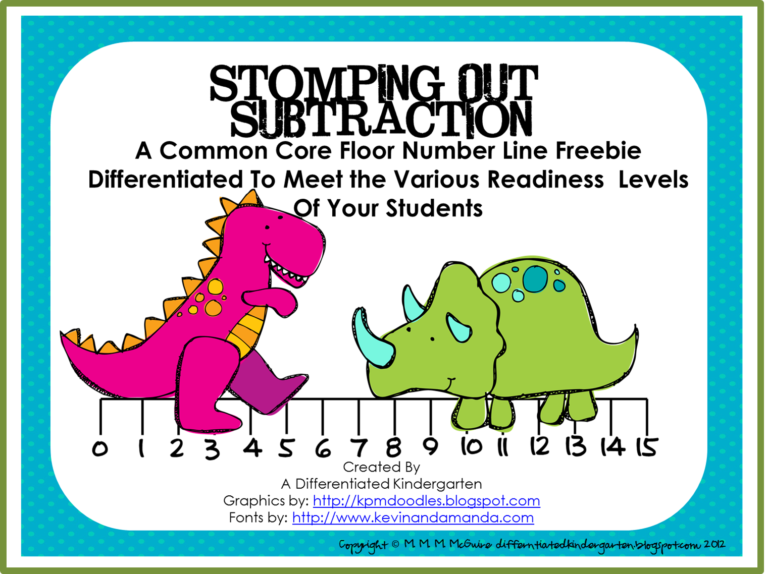 Stomping Out Subtraction And A Differentiated Freebie That
