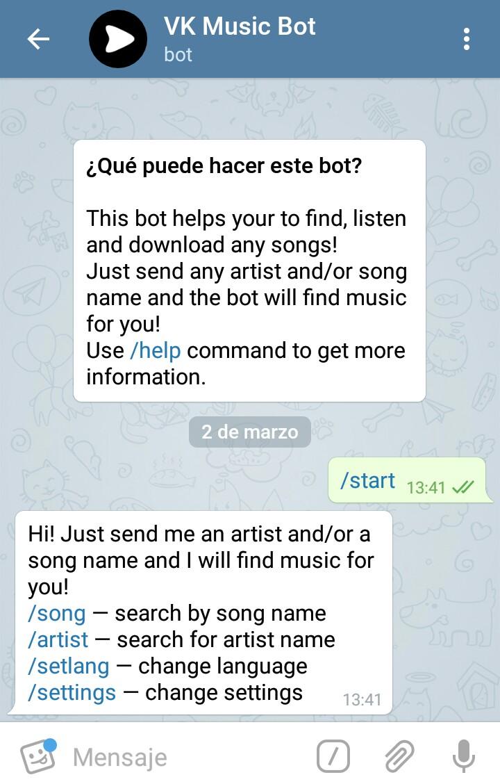 Descargar música con Telegram | APPNALIZO