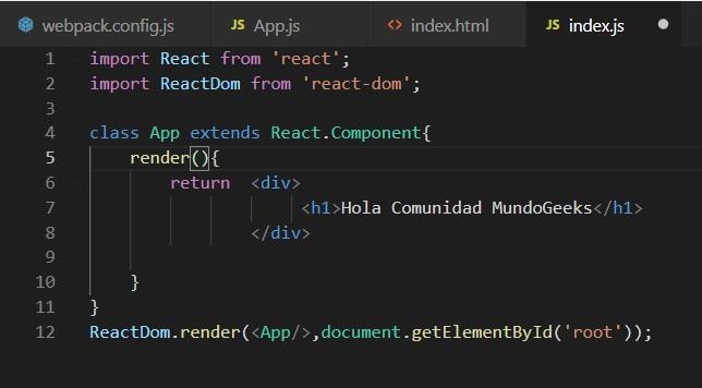 primer componente de react.js