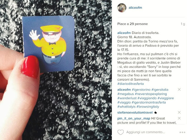 Viaggio con Megabus su Instagram