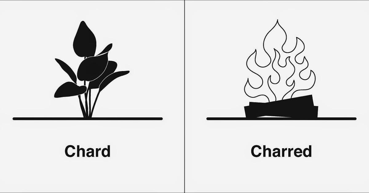 Homophones, Weakly: Chard & Charred