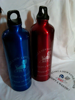 Water Bottles from Westie Rescue of Tennessee