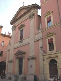 The church of San Giovanni Battista de' Celestina in the centre of Bologna