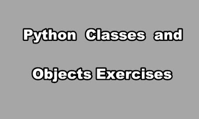 Python Classes and Objects Exercises