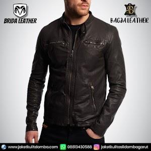 Jual Jaket Kulit Asli Garut Pria Domba Original Brida Leather B96 | WA 08813430588