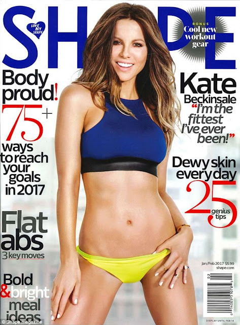 Kate Beckinsale for Shape Magazine Cover