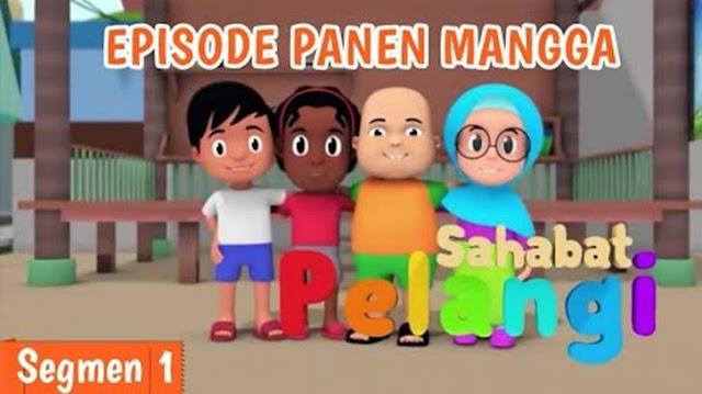 Sahabat pelangi dengan cerita Panen Mangga