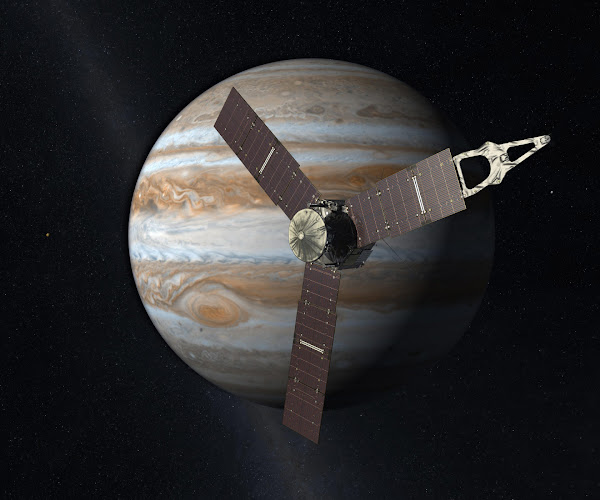 The spacecraft Juno Enters Jupiters Orbit - Official Website - BenjaminMadeira