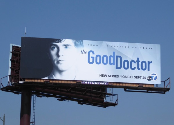Good Doctor series premiere billboard