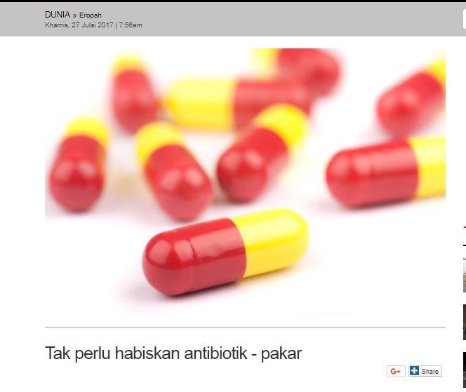 Tak Perlu Habiskan Antibiotik