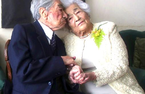 أقدم زوجين في العالم يدخلان موسوعة غينيس...شاهد