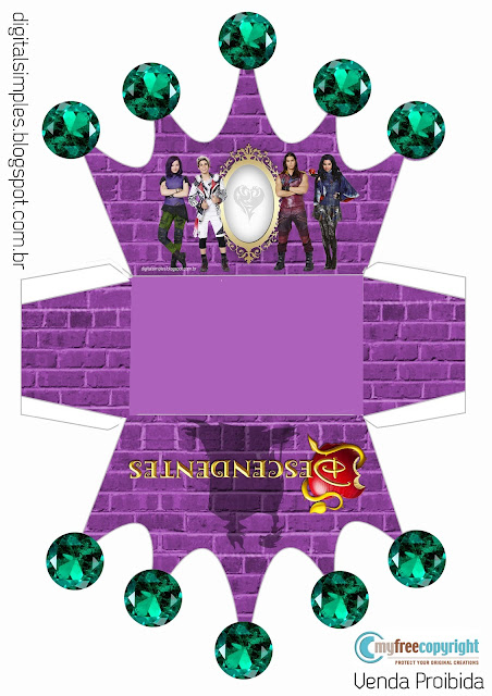 Descendants: Free Printable Crown Shapped Box.