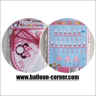 Bunting Banner HAPPY BIRTHDAY Topi Mickey & Minnie Mouse