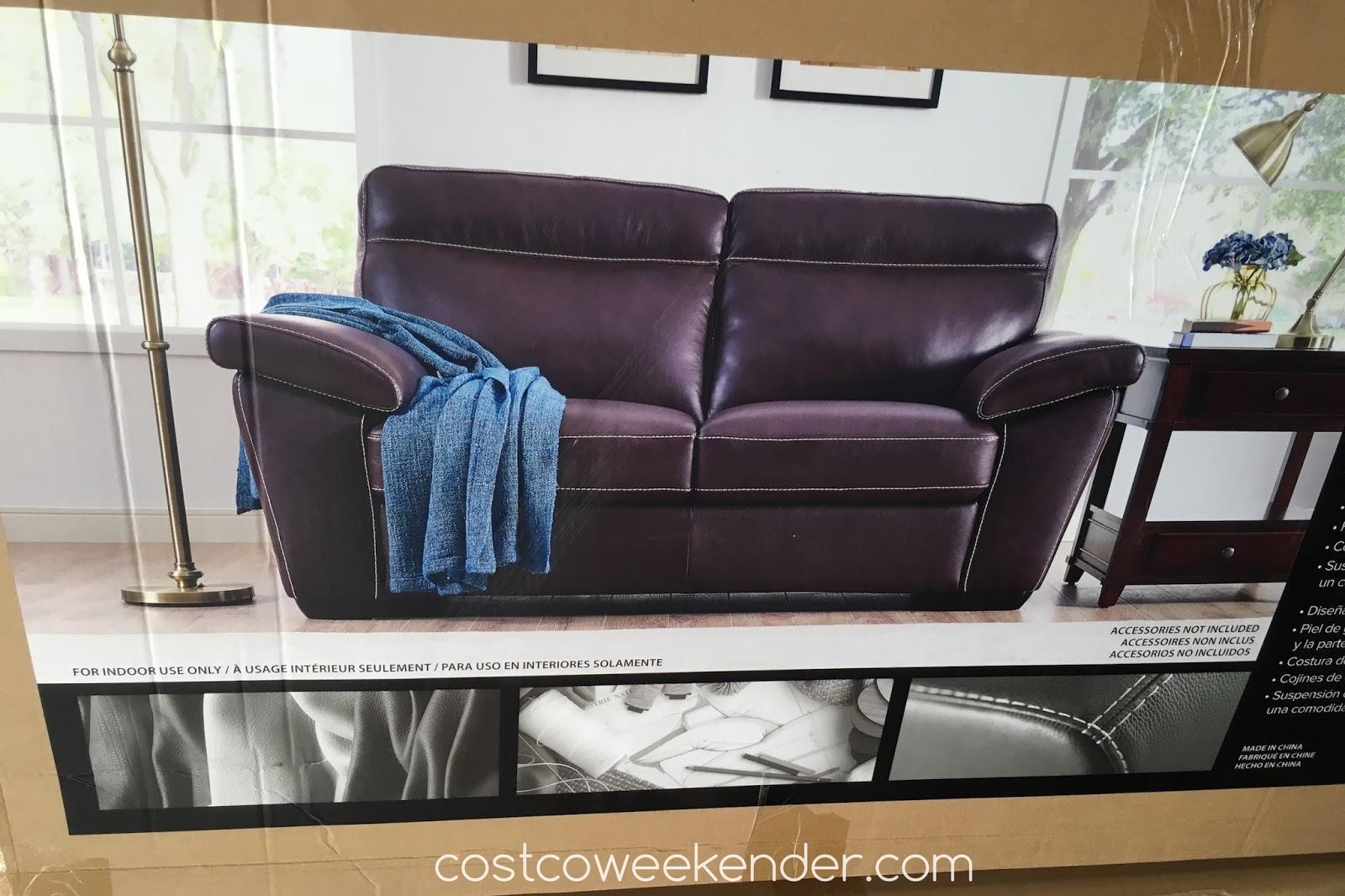 Natuzzi Group Leather Sofa Costco Black And White Corner Loveseat Weekender