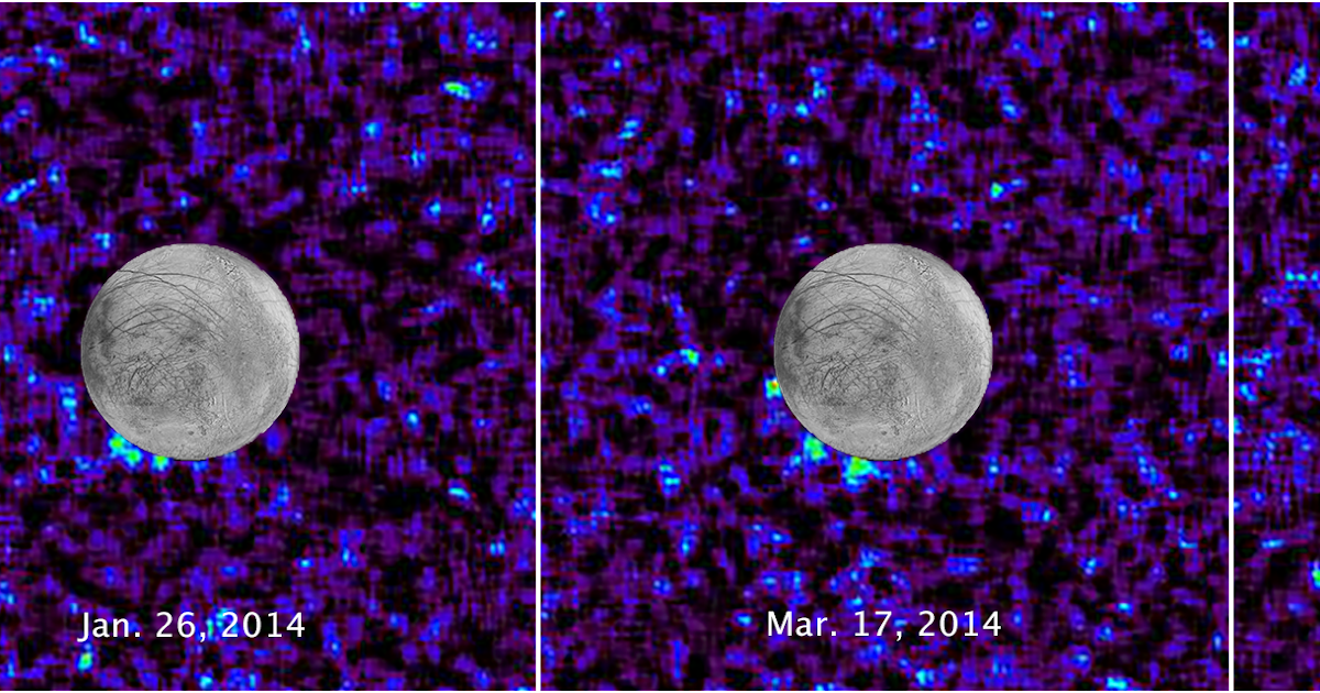 Hubble spia possibili geyser di acqua su Europa
