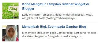 atau Snippet Post plus Gambar Thumbnail di Halaman Depan Blog dengan  Cara Membuat Auto Read More di Halaman Depan Blog