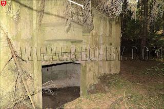 Амбразура во втором немецком бункере