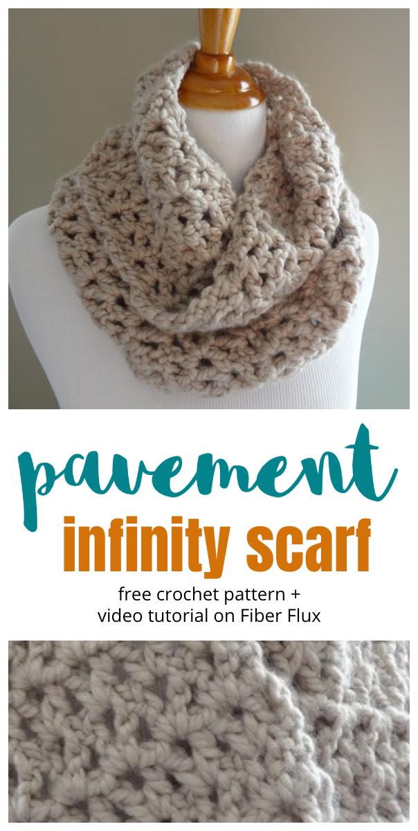 Free Crochet Pattern...Pavement Infinity Scarf!