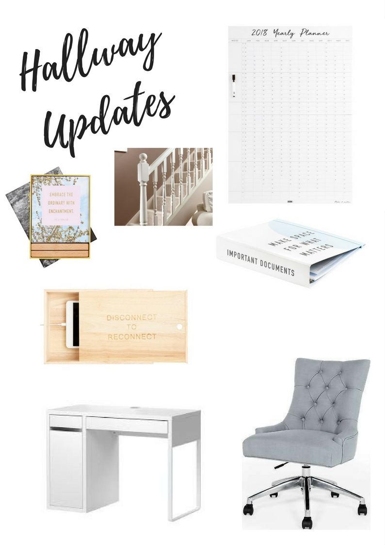 Our Hallway Updates | Creating An Office Space