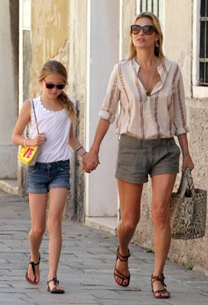 Kate Moss on holiday in Italy, sharing the top moments complicit with her daughter Lila Grace!