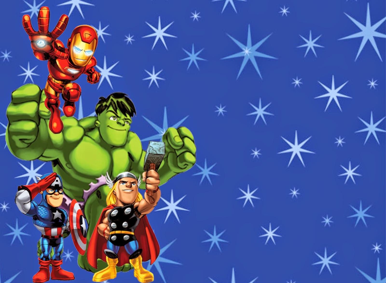 Free Avengers Birthday Invitation Templates Costumepartyrun