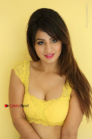 Cute Telugu Actress Shunaya Solanki High Definition Spicy Pos in Yellow Top and Skirt  0197.JPG