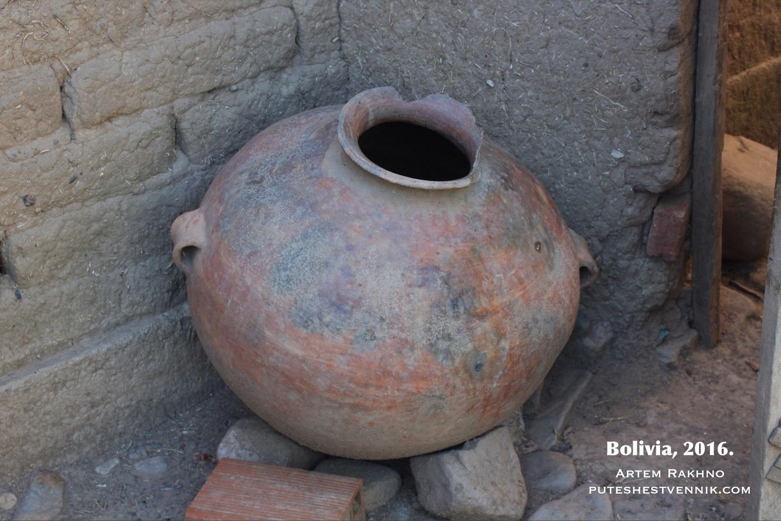 Глиняный сосуд боливийцев