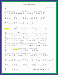 not angka petanglah petang lagu daerah sumatera selatan