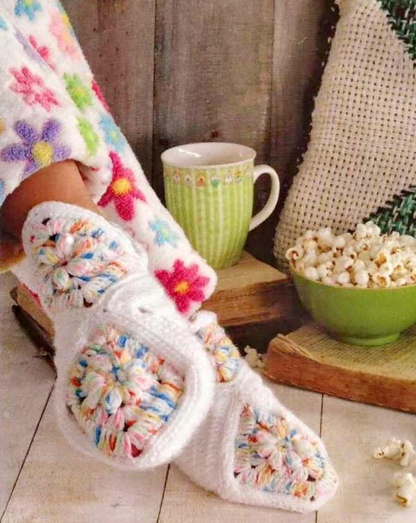 Crochet Granny Square Slippers Patterns