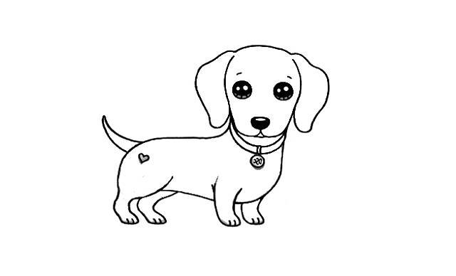 dibujos faciles de perros salchichas