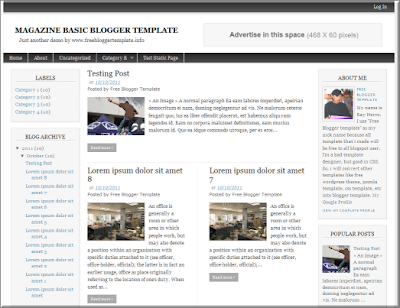 7 best free blogger templates for 2012 the tech next for Pro photo blog templates
