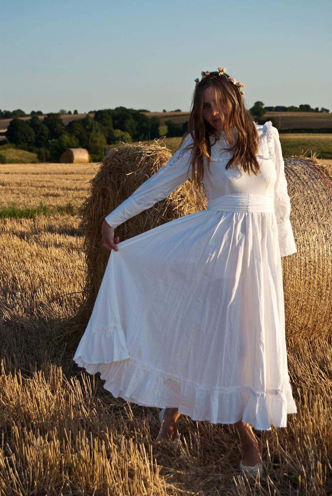 vintage laura ashley wedding prairie laura ashley wedding dresses Vintage Laura Ashley wedding prairie dress from the s