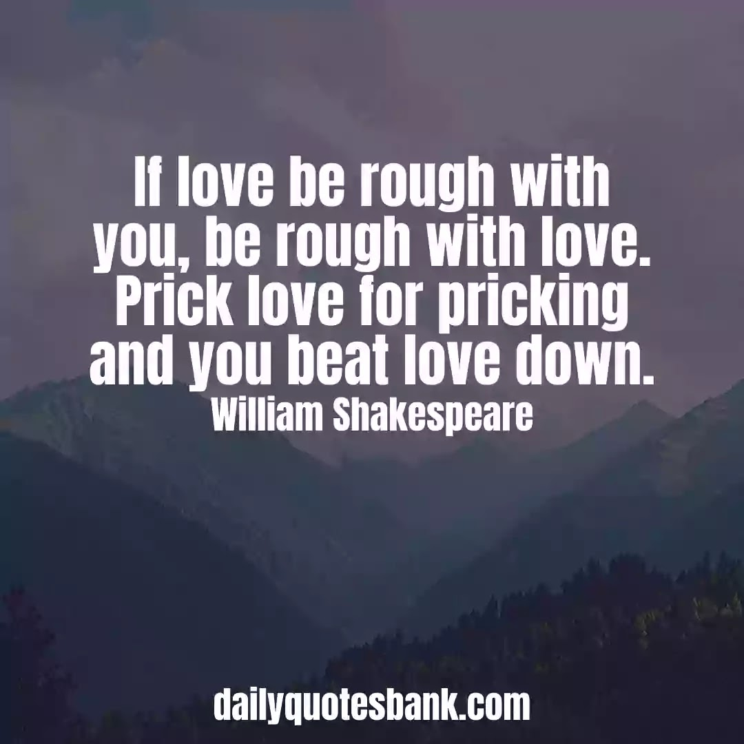 Romantic Shakespeare Quotes On Love