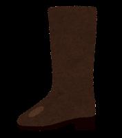 横から見た靴のイラスト(ロングブーツ)