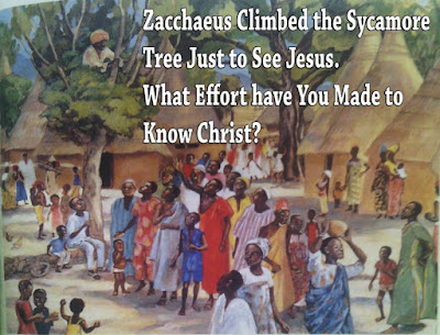 Zacchaeus' effort to see Jesus