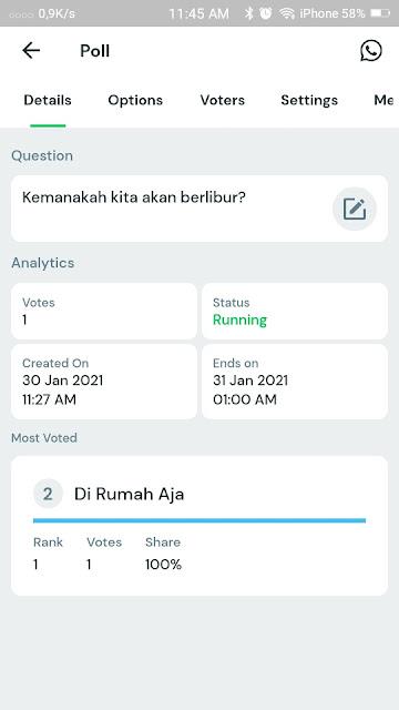 Cara Membuat Polling di Whatsapp 17