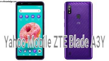 شركة ياهو تطلق هاتف Yahoo Mobile ZTE Blade A3Y بالشراكة مع شركة ZTE الصينية