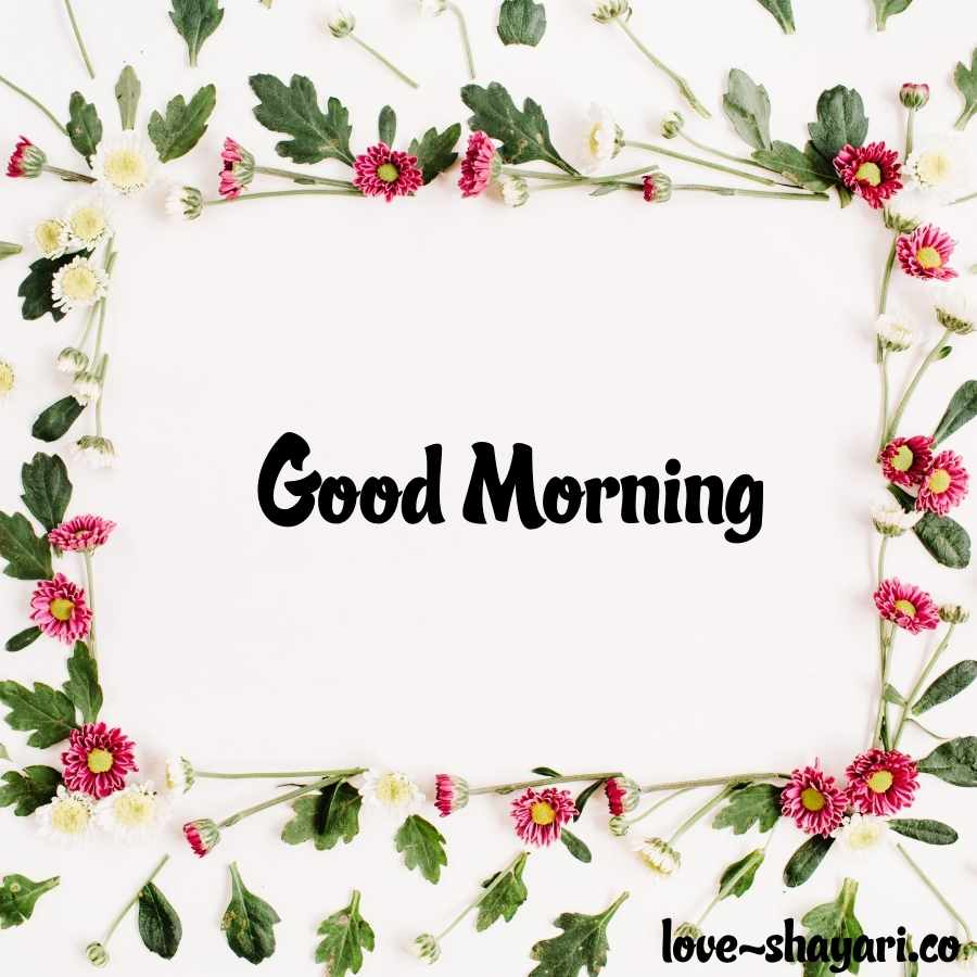 good morning wish with flowers