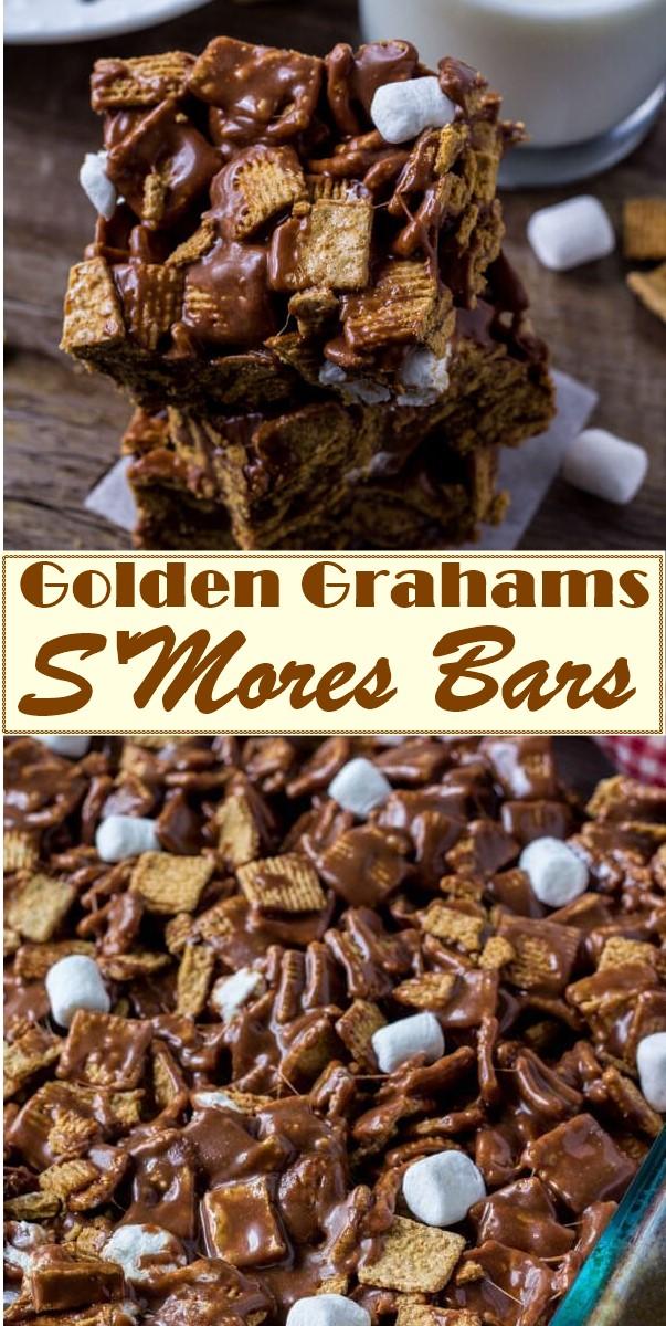 Golden Grahams S'Mores Bars #dessertrecipes
