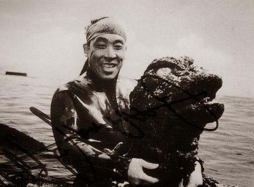 Haruo Nakajima, el actor que interpretaba a Godzilla