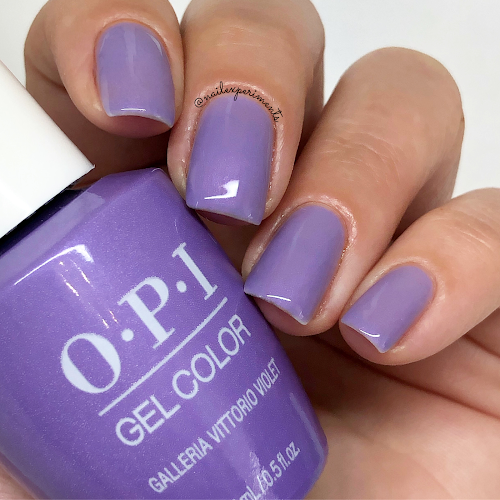 opi galleria vittorio violet gel color muse of milan fall 2020