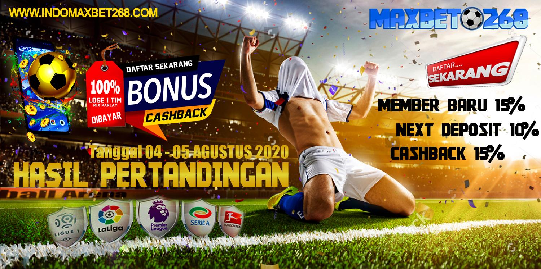 Hasil Pertandingan Sepakbola Tanggal 04 - 05 Agustus 2020