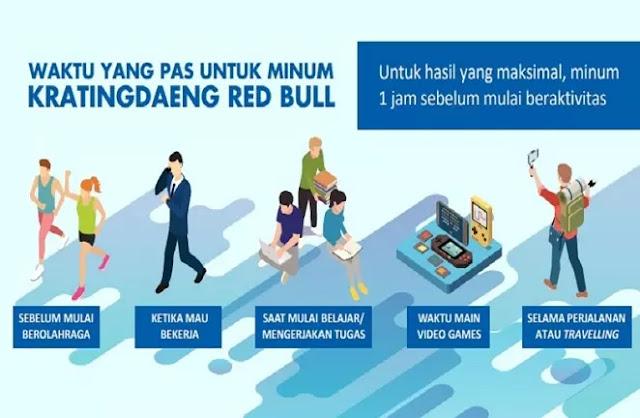 Kratingdaeng Red Bull dapat dikonsumsi sebagai minuman olahraga baik sebelum maupun sesudah beraktivitas