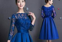 Model Dress Brokat Dan Satin Gamis Brokat